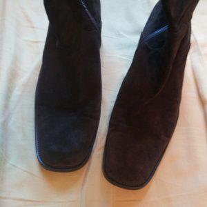 Via Spiga Shoes - Vintage Via Spiga Brown Suede Knee High Heel Boot